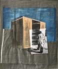 Fabric, Oilpaint, photopap er, thread 110 x 70 cm