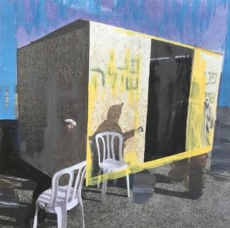 Photopaper, acrylic paint 30 x 30 cm