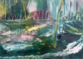 Acrylic paint on paper 50 x 60 cm