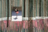 Fabric, photopaper, thr ead, oilpaint 70 x 100 cm