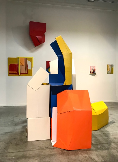 Composition with cardboard boxes, August Peters 2019